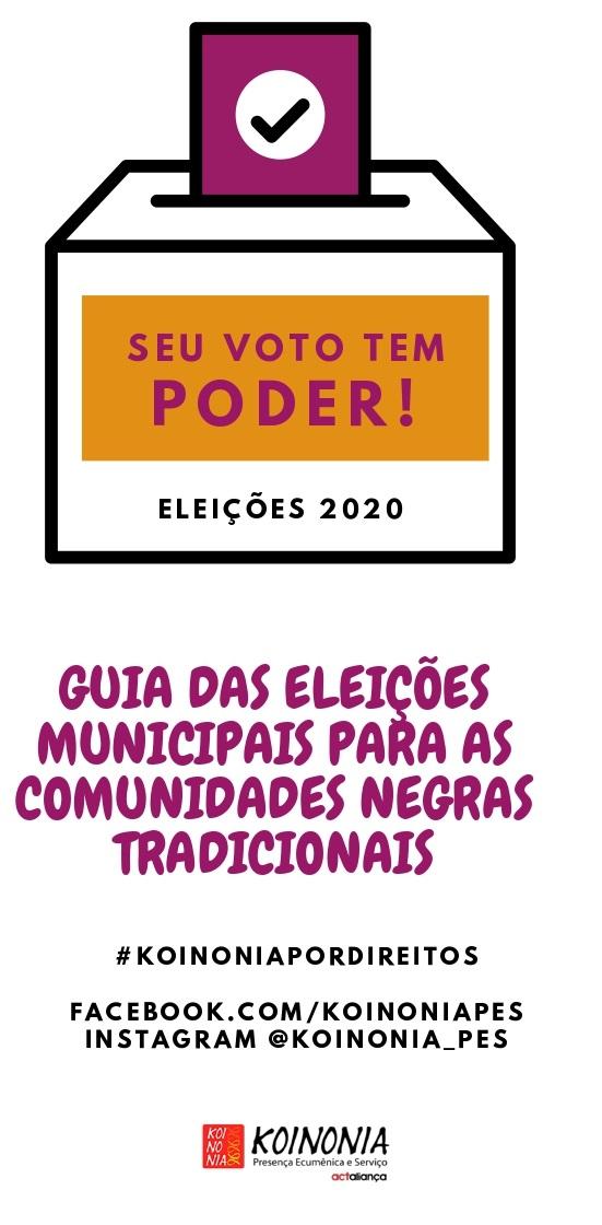 Material para download |Guia das eleições municipais para as comunidades negras tradicionais